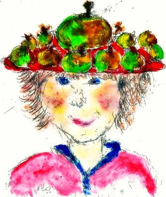 Die Apfelfrau und die Kinder
