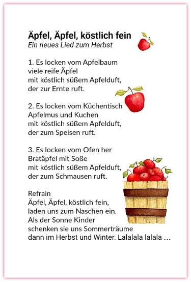 Äpfel, Äpfel, köstlich fein